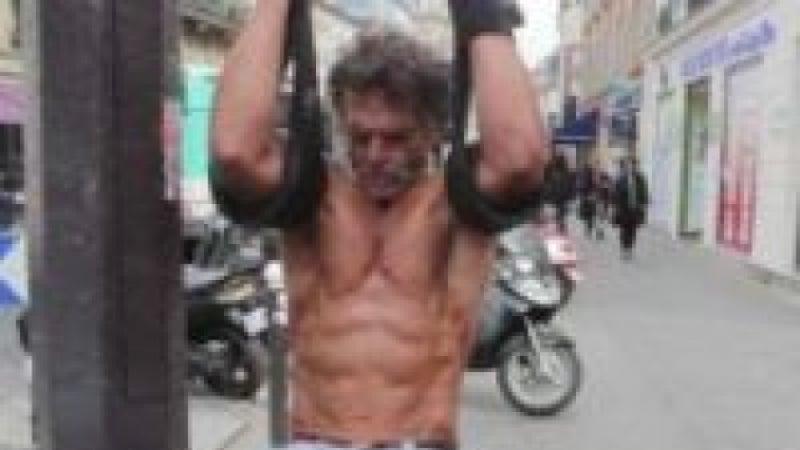 Homeless bodybuilder Jacques Sayagh