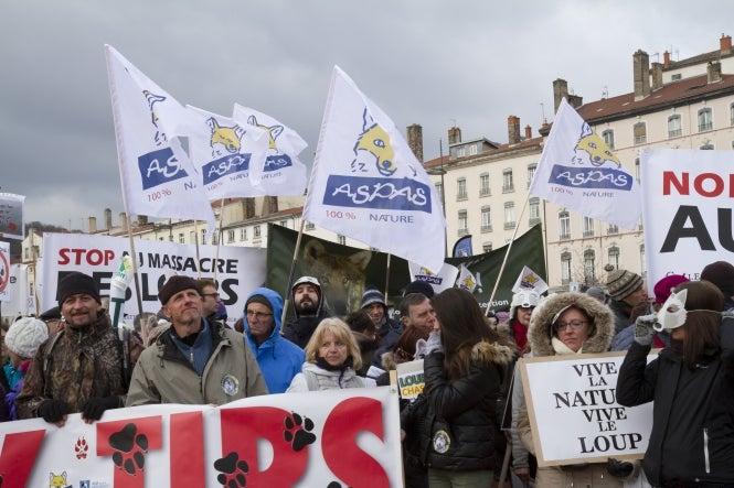 An ASPAS animal protection group demonstration